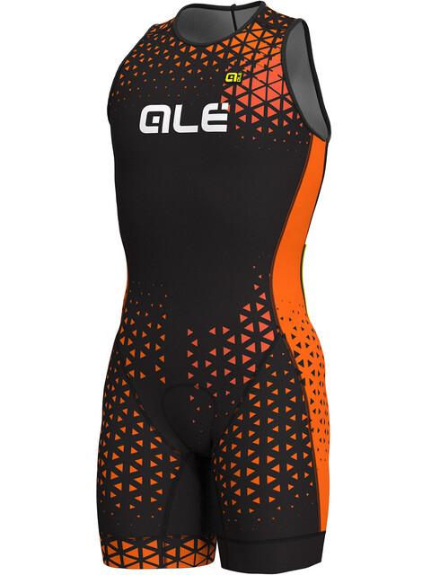 Alé Cycling Rush Olympic Tri Sleeveless Unitard Short Men black-flou orange